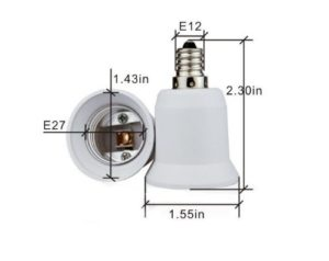 Candelabra To Standard Adapter E12 to E26 Diagram