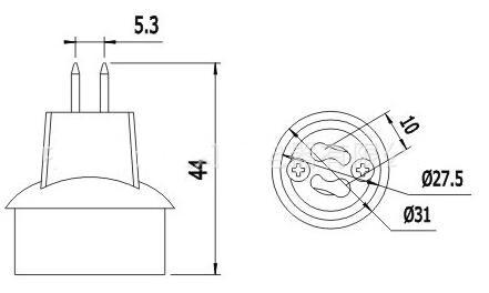 Convert MR16 To GU10 Lamp Holder Adapter