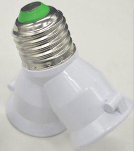 Double Light Socket LED Lamp Holder Splitter