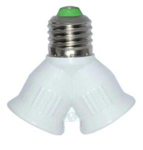 Dual Light Sockets Led E26 to 2E26 Bulb Light Holder Splitter