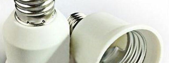 E26 Lamp Base E17 to E27 Light Bulb Socket Converter