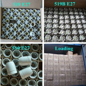 E27 Ceramic Lamp Holder F519 packing