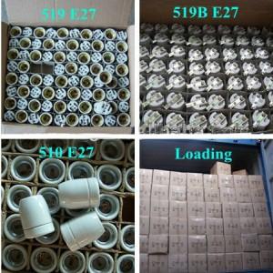 E27 Ceramic Lamp Holder F519 packing