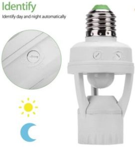 E27 Infrared PIR Motion Sensor LED lamp holders