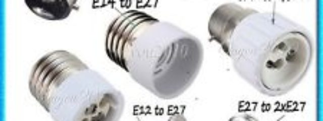 E27 led light socket adapters