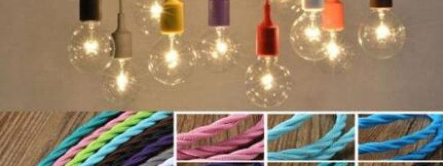 Hanging Cord Light Vintage Color Twist Braided Fabric Cable Wire