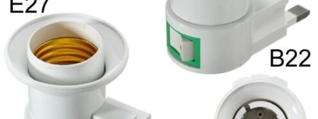 Light Bulb Plug Adapter Wall Screw Lamp Holder Converter