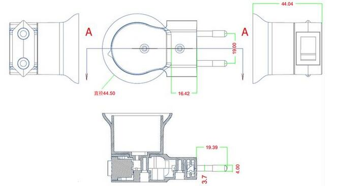 Light-bulb-socket-adapter-with-switch-diagram  Prong European V Plug Wiring Diagram on