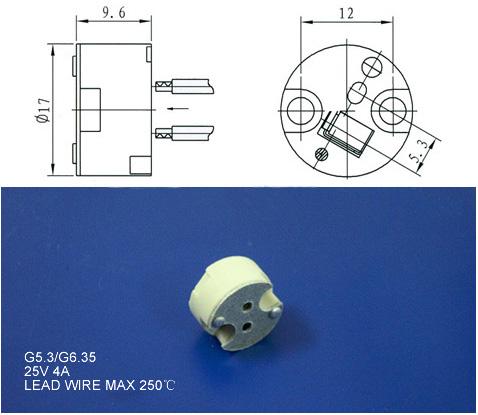 MR16 Bulb Holders diagram