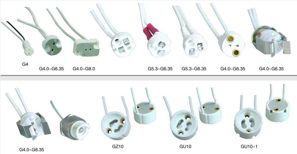 LED Lamp holders mr16-socket-g5-3-lamp-holder-sizes