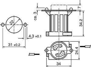 T8 Sockets Push In Starter Holders diagram
