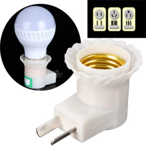 light bulb socket adapter with switch