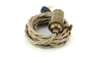 braided pendant lamp cord China factory