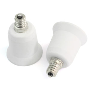 candelabra socket adapter plug e14 to e27