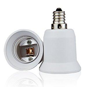 candelabra to standard bulb socket base adapter