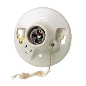 ceiling light socket with outlet