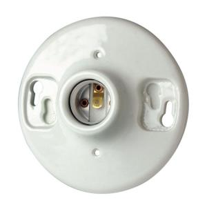 ceramic light socket with outlet