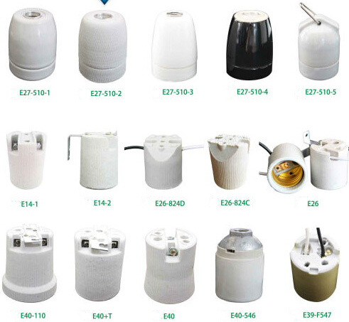 Customized Lamp Holder Parts China Manufacturer Keyless Lamp Sockets E27 E26 Medium Light Base