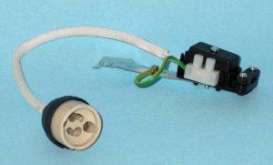 gu10 connector socket ceramic cable