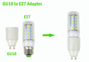 gu10 to e27 plug converter adapter for led bulb