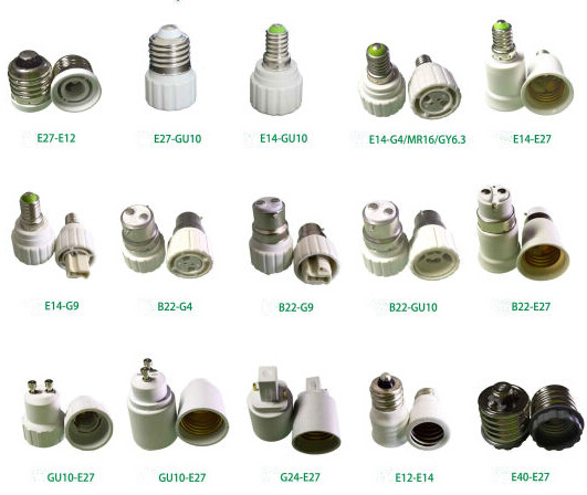 e27 to b22 socket converter TYPES