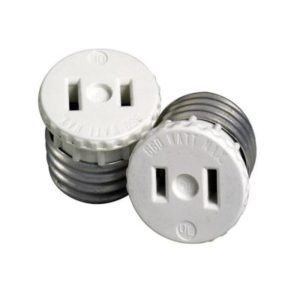 lamp holder to outlet adapter with ground