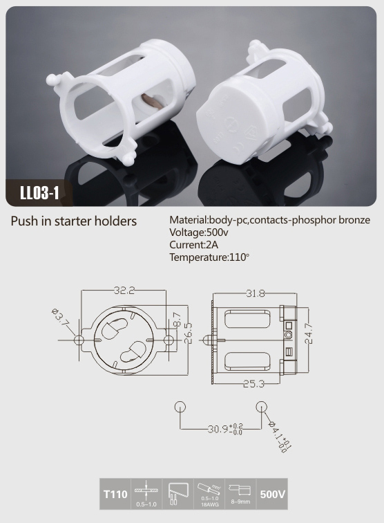 leviton-t8-sockets-push-in-starter-holder
