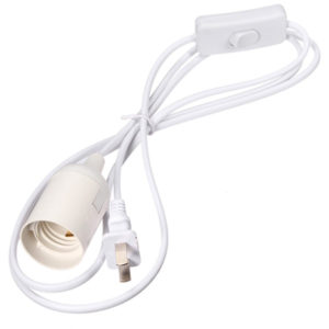light bulb adapter socket holder with switch