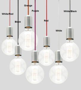 pendant lantern color light cord set