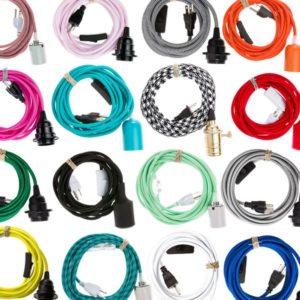 pendant lantern light cord set