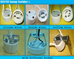 Gu10 led halogen lamp holder sockets factory